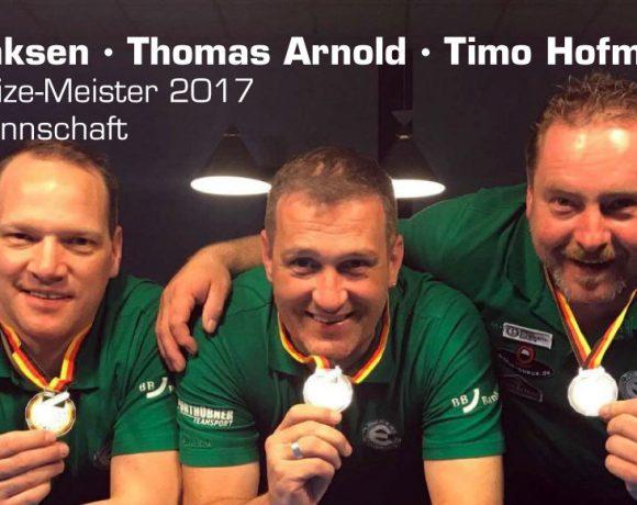 Thore Sönksen - Thomas Arnold - Timo Hofmann - Deutsche-Vize-Meister 2017 Senioren Kombi Mannschaft